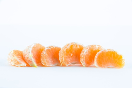 Mandarin orange, Citrus reticulata isolated on white background Stock Photo - 17714816