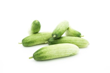 The green cucumbers isolated on white Stock Photo - 17921462
