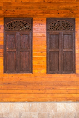 Thai style windows at home photo