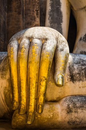 the fingers of buddha in thailand photo