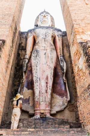 Sukhothai historical park, the old town of Thailand Stock Photo