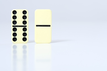 regimented: dominoes pieces. Stock Photo