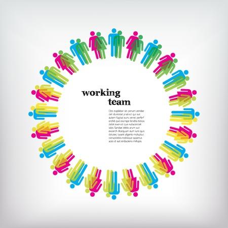 Werk teamconcept. Mannen en Vrouwen.