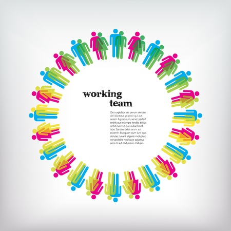 Work team concept. Men and Women. Stock Photo - 11727802