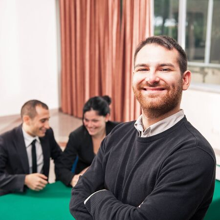 Young man at job meeting  Stock Photo - 17532449