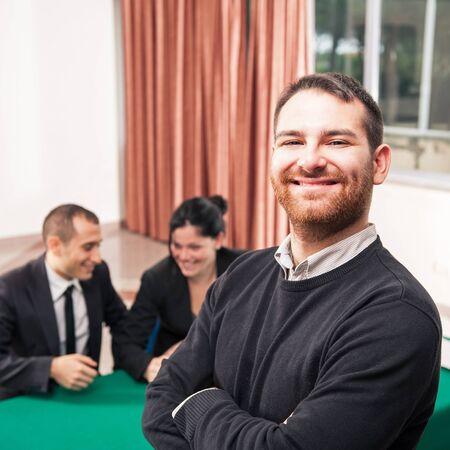 Young man at job meeting Stock Photo - 17532449