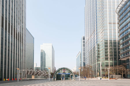 Entrance of Canary Wharf Station in London