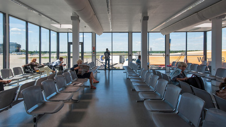 Waiting room inside Airport in Berlin