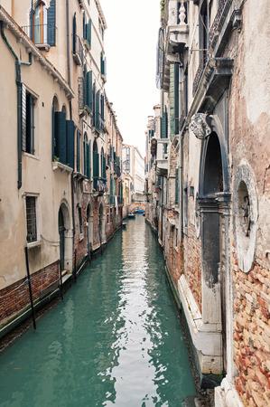 Typische kanaal van Venetië, Italië Stockfoto