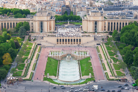 Trocadero aerial view from the Eiffel Tower, Paris