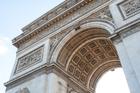 Arch of Triumph detail in Paris, France