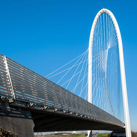 REGGIO EMILIA, ITALY - FEBRUARY 23, 2014  Famous bridges complex  Le Vele  by architect Santiago Calatrava