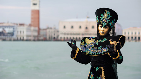 st mark: Carnival of Venice, beautiful mask at St  George island with Mark