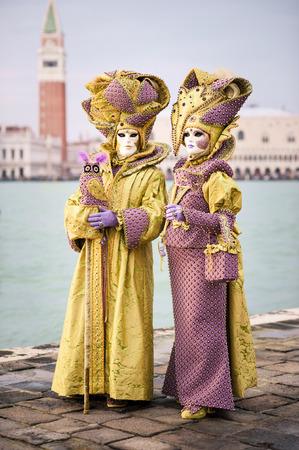 Carnaval de Venise, beaux masques à St George île Banque d'images - 29871274