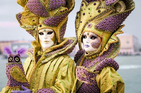 Carnaval de Venise, beaux masques à St George île Banque d'images - 29871275