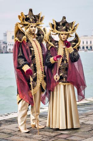 Carnaval de Venise, beaux masques à St George île Banque d'images - 29871276