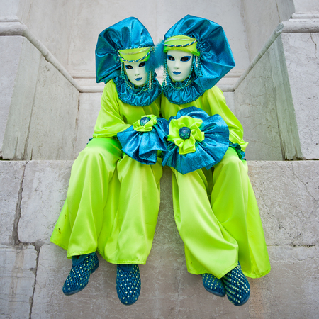 Carnaval de Venise, beaux masques à St George île Banque d'images - 29871282
