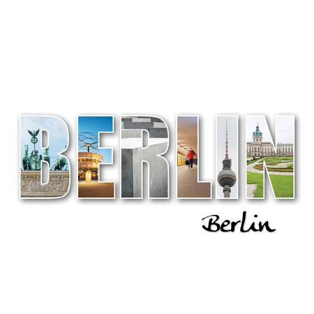 Berlin collage de différents endroits célèbres Banque d'images - 29853475