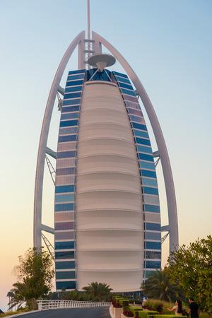 DUBAI, UAE - MARCH 29, 2014  Burj Al Arab luxury Hotel