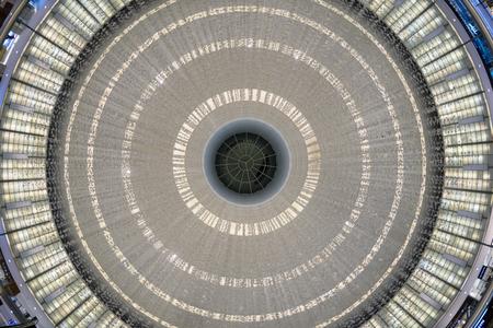 DUBAI, UAE - MARCH 28, 2014  Round ceiling inside Dubai Mall   Redactioneel
