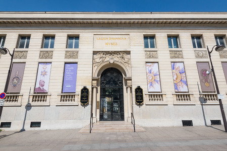 PARIS, FRANCE - MAY 17, 2014: The Musee national de la Legion dHonneur. It displays a history of Frances honors, medals, decorations, and knightly orders from Louis XI to the present.