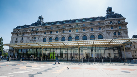 PARIS, FRANCE - MAY 17, 2014: Musee dOrsay building. Opened in 1986, it houses the largest collection of impressionist and post-impressionist masterpieces in the world.