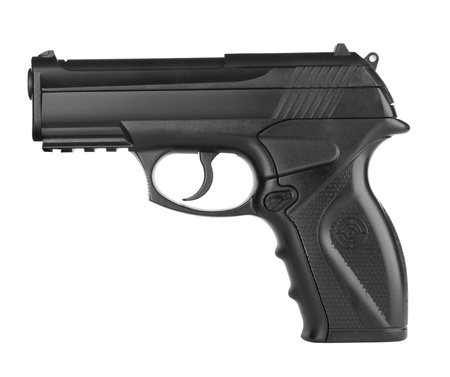 Pistol isolated on a white background photo