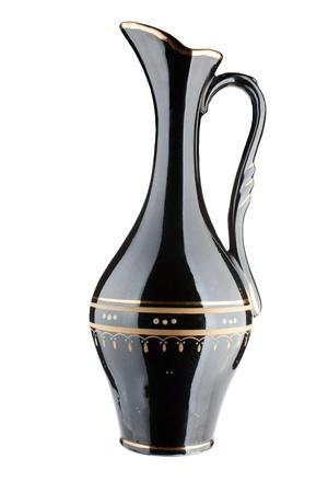 Old art deco vase isolated on white background  Stock Photo