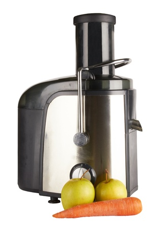 extractor: juice extractor isolated on white background, front view