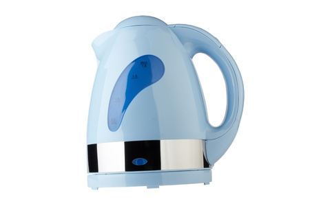 blue kettle, isolated on white Stock Photo - 11328277