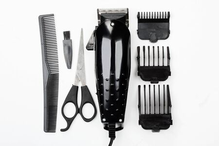 hairclipper: Hairclipper isolated on white background.