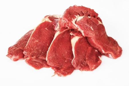 grilled pork chop:  on white background