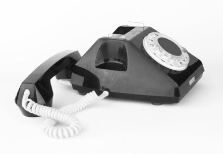 vintage black telephone on  white background   Stock Photo - 12069155