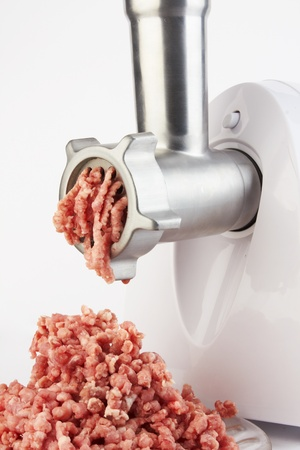 Force-meat and meat grinder photo