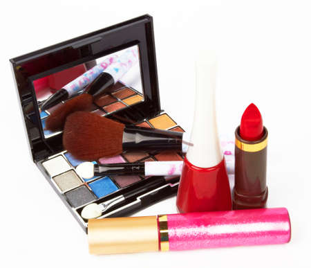 Cosmetic products on white background  Stock Photo - 12371510