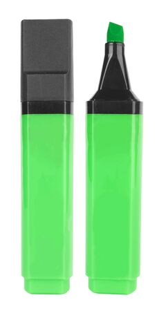Green highlighter isolated on white background Stock Photo - 12946790