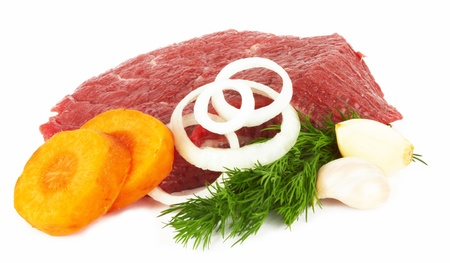 raw meat isolated on a white Stock Photo - 12946855