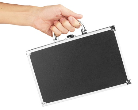 man holding black case with money  Stock Photo - 12946883