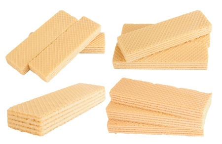 wafers isolated on a white background  photo
