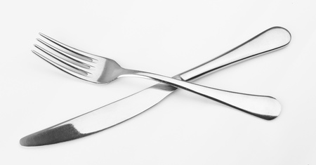 fork and knife on white background. Stock Photo - 13627949