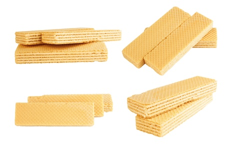wafers isolated on a white background  Stock Photo