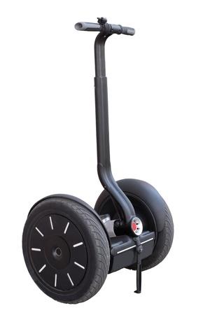 segway: alternative transport vehicle isolated on a white