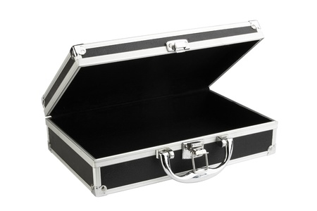 Black case isolated on white background. Stock Photo - 15088708