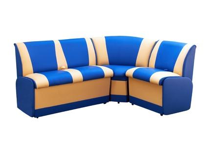 angular leather sofa isolated on a white photo