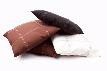 bright pillows isolated on white  Stock Photo - 15844291