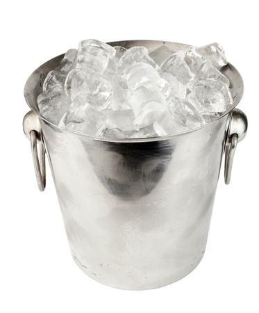 ice bucket on white background  photo
