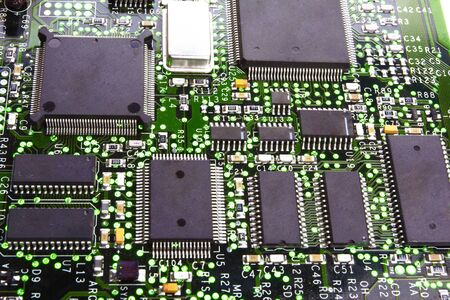 Detail of the front of a printed circuit board Stock Photo - 16694507