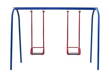 swings for children isolated on a white background