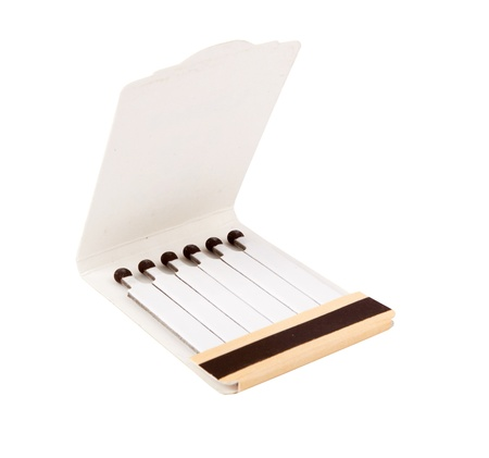 Box of matches isolated ona white photo