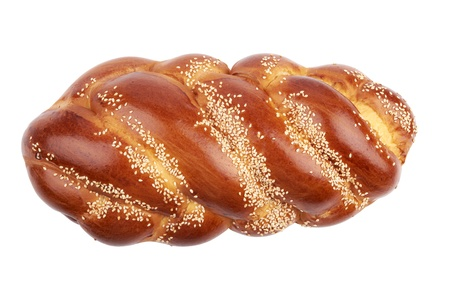 Challah isolated on white background photo